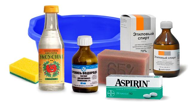 уксус-перекись-мыло-спирт-аспирин
